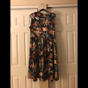 Lindy bop winter floral dress
